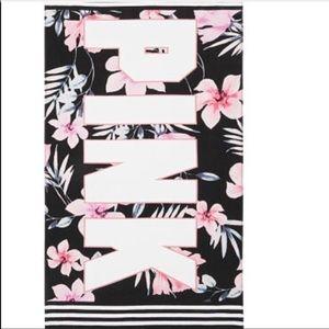 Vs pink rectangular beach towel Floral